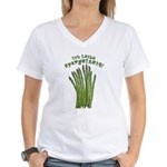 Ich Leibe Spargelzeit! Women's V-Neck T-Shirt