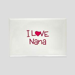 I Love Nana Rectangle Magnet