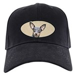 Miniature Pinscher Black Cap with Patch
