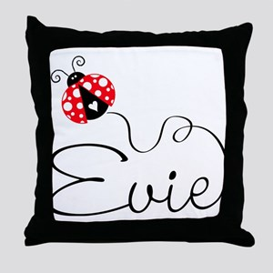 Ladybug Evie Throw Pillow