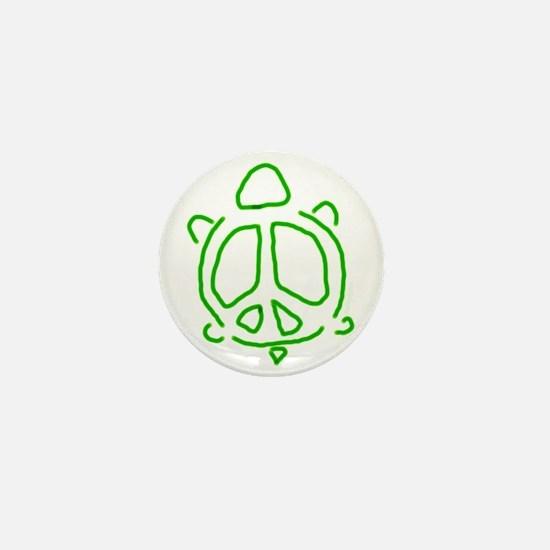 Peace turtle Mini Button
