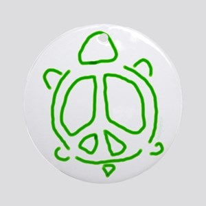 Peace turtle Ornament (Round)