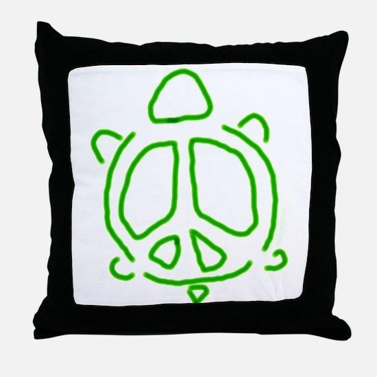 Peace turtle Throw Pillow