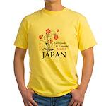 Cherry Blossoms - Japan Yellow T-Shirt