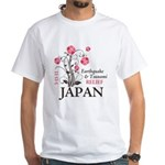 Cherry Blossoms - Japan White T-Shirt