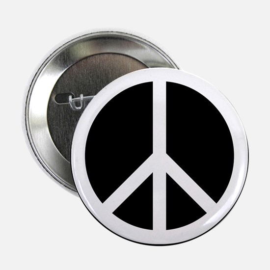 "White Peace Sign 2.25"" Button"