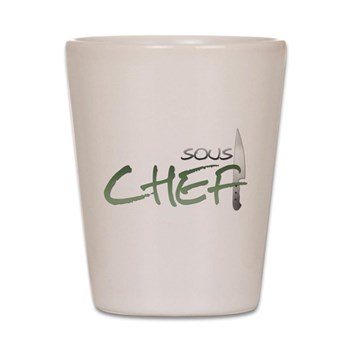 Green Sous Chef Shot Glass