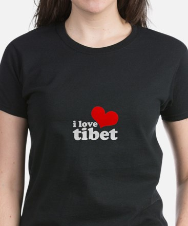 I Heart Tibet Women's Dark T-Shirt