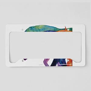 Rainbow Horses License Plate Holder