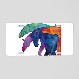 Rainbow Horses Aluminum License Plate