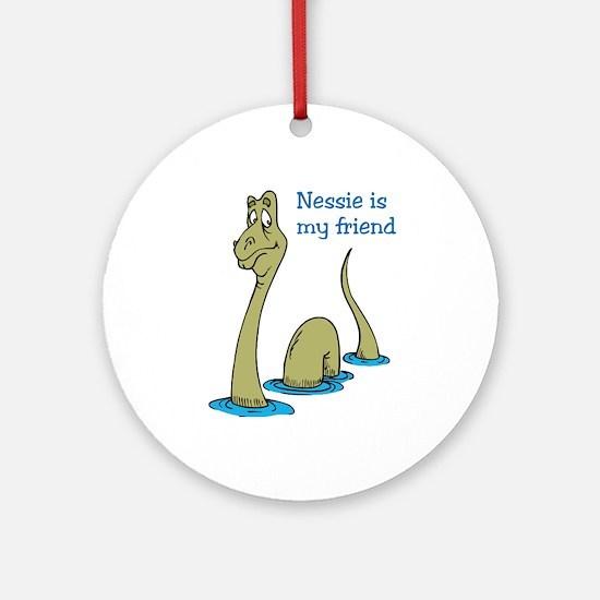 Nessie Ornament (Round)