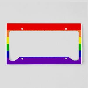 Pride Flag License Plate Holder