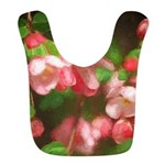 Pink Blossoms Polyester Baby Bib