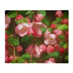 Pink Blossoms Throw Blanket