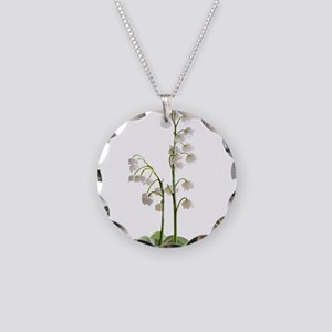 lily of Valley Necklace Circle Charm