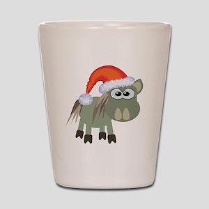 Cute Christmas Donkey Santa Shot Glass