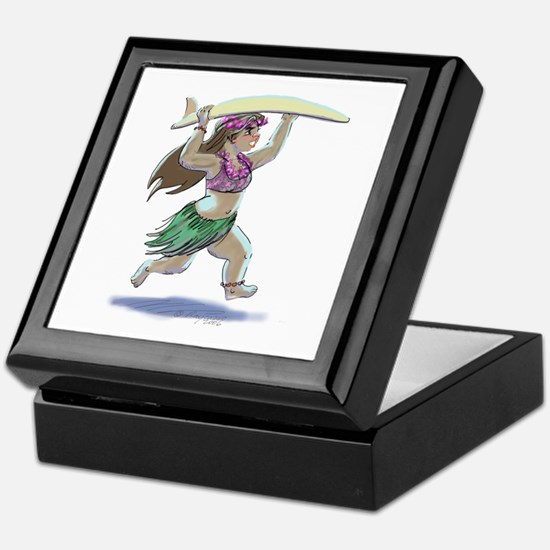 sUrFeRgIrL Keepsake Box