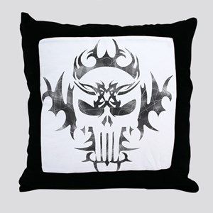Tribal Punisher Throw Pillow