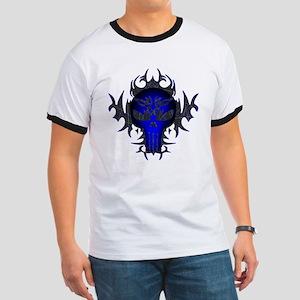 Tribal Punisher (blue) Ringer T
