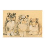 Mary Callaham's Collie Art Postcards (Package of 8