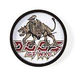 Dogs of War Wall Clock