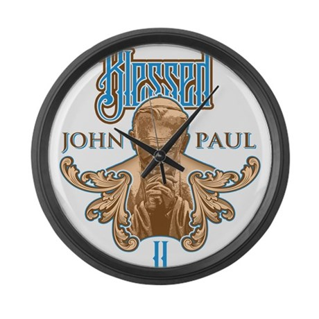 Pope John Paul II Beatificati Large Wall Clock
