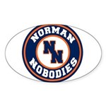 Norman Nobodies Sticker (Oval)