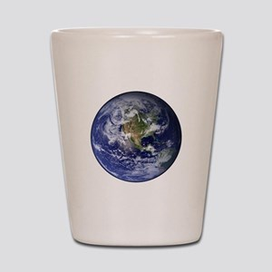 Western Earth from Space Shot Glass