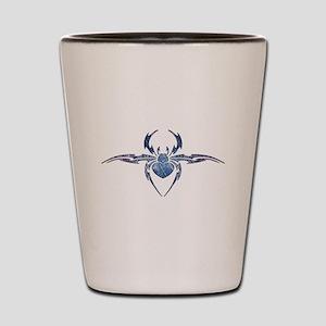 Tribal Spider Tattoo Shot Glass