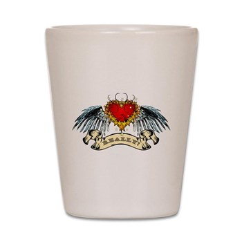 Really? Winged Heart Shot Glass