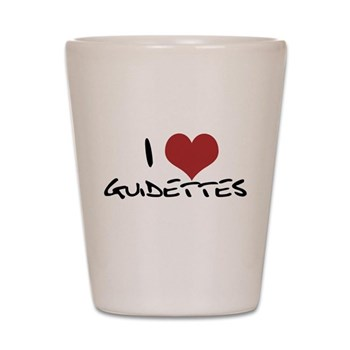 I Heart Guidettes Shot Glass