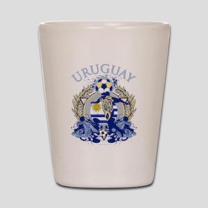 Uruguay Soccer Shot Glass