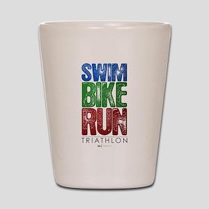 Swim, Bike, Run - Triathlon Shot Glass
