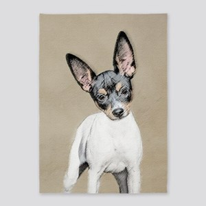 Rat Terrier 5'x7'Area Rug