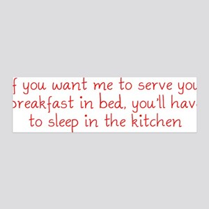 Breakfast in Bed 36x11 Wall Decal
