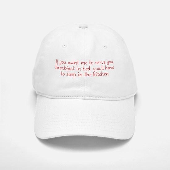 Breakfast in Bed Baseball Baseball Cap