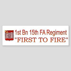1st Bn 15th Field Artillery Sticker (Bumper)