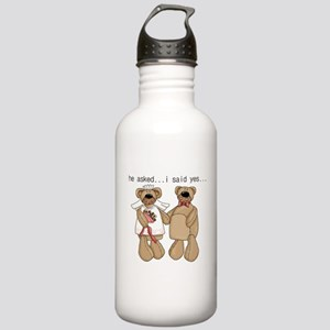 Bride and Groom Bear Stainless Water Bottle 1.0L
