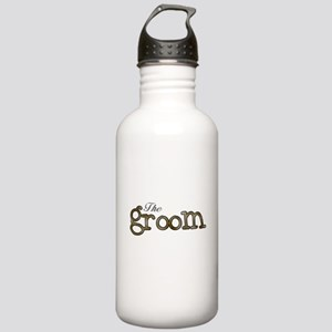 Silver and Gold Groom Stainless Water Bottle 1.0L
