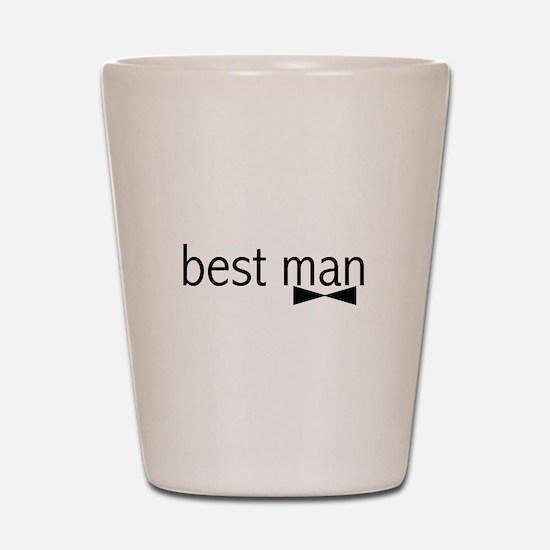 Bow Tie Best Man Shot Glass