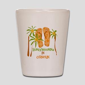 Honeymoon Cancun Shot Glass