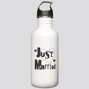 Just Married Black Stainless Water Bottle 1.0L