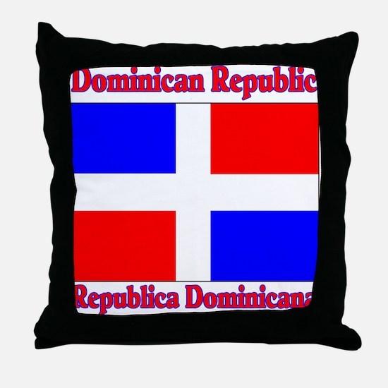 Republica Dominica Throw Pillow