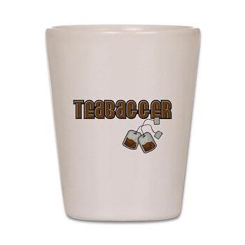 Teabagger Shot Glass