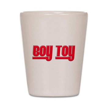 Boy Toy - Red Shot Glass