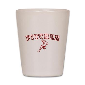 Pitcher - Red Shot Glass