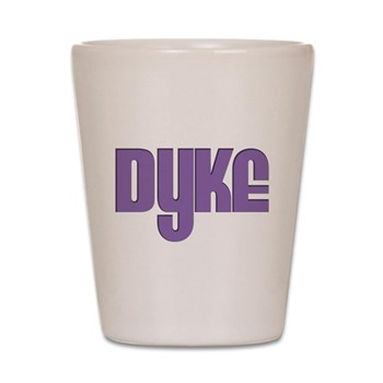 Purple Dyke Shot Glass