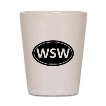 WSW Black Euro Oval Shot Glass