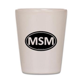 MSM Black Euro Oval Shot Glass
