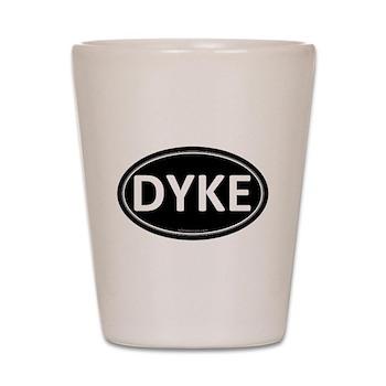 DYKE Black Euro Oval Shot Glass